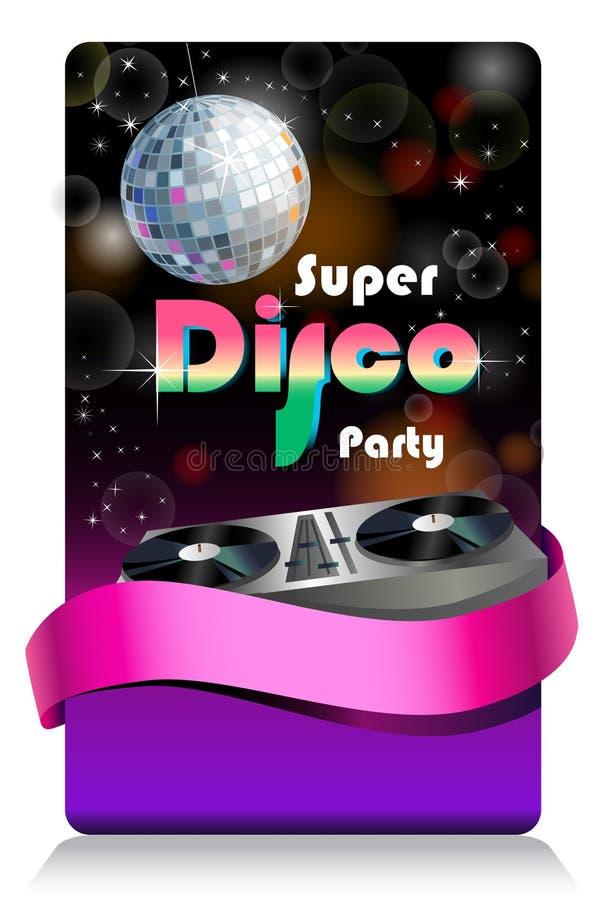 Stylish summer banner. Stylish disco banner Music Concept, Retro Poster Template vector illustration