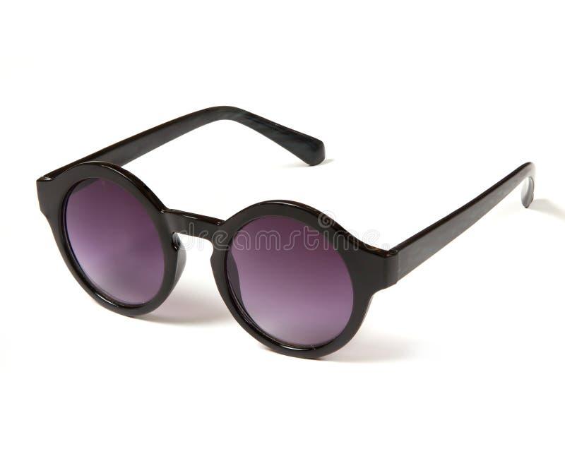 Stylish sunglasses with round purple glasses royalty free stock photos