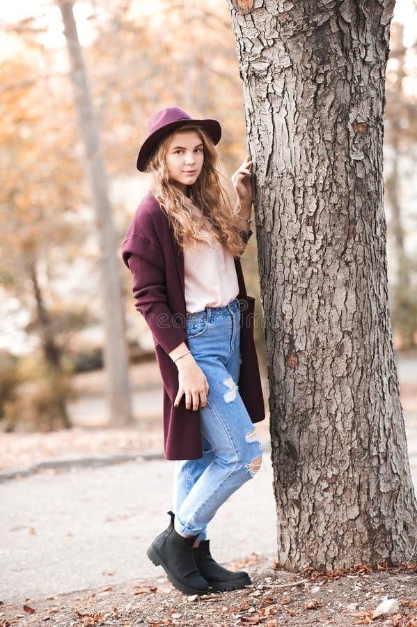 Stylish teen girl stock photography