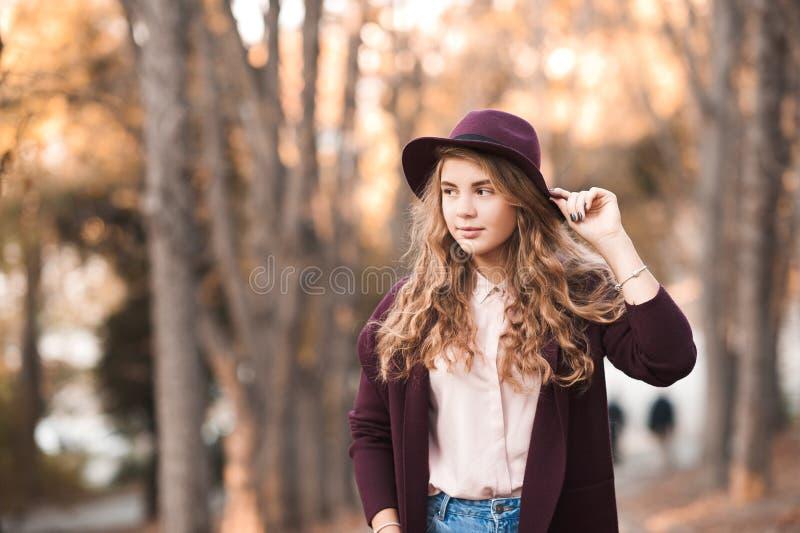 Stylish teen girl stock photo