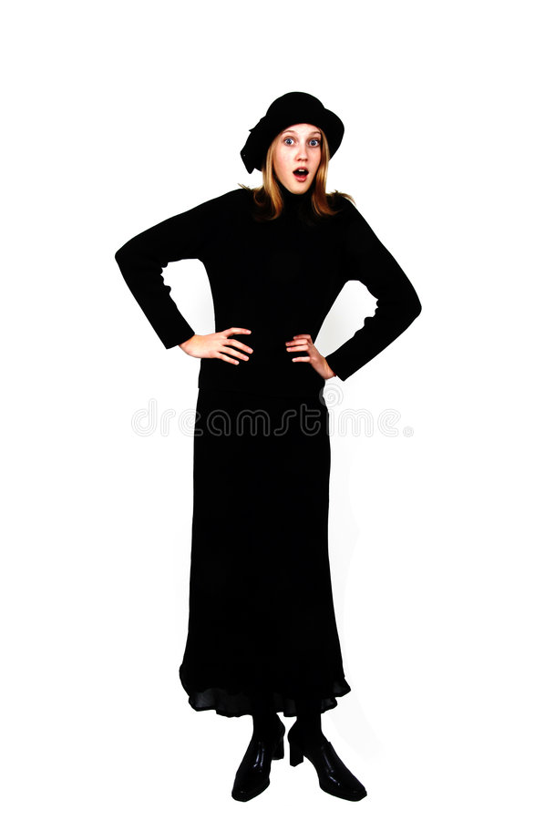 Download Stylish teenage girl stock image. Image of cute, dress - 7481615