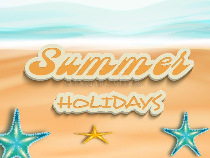 Stylish text of Summer Holidays. vector illustration