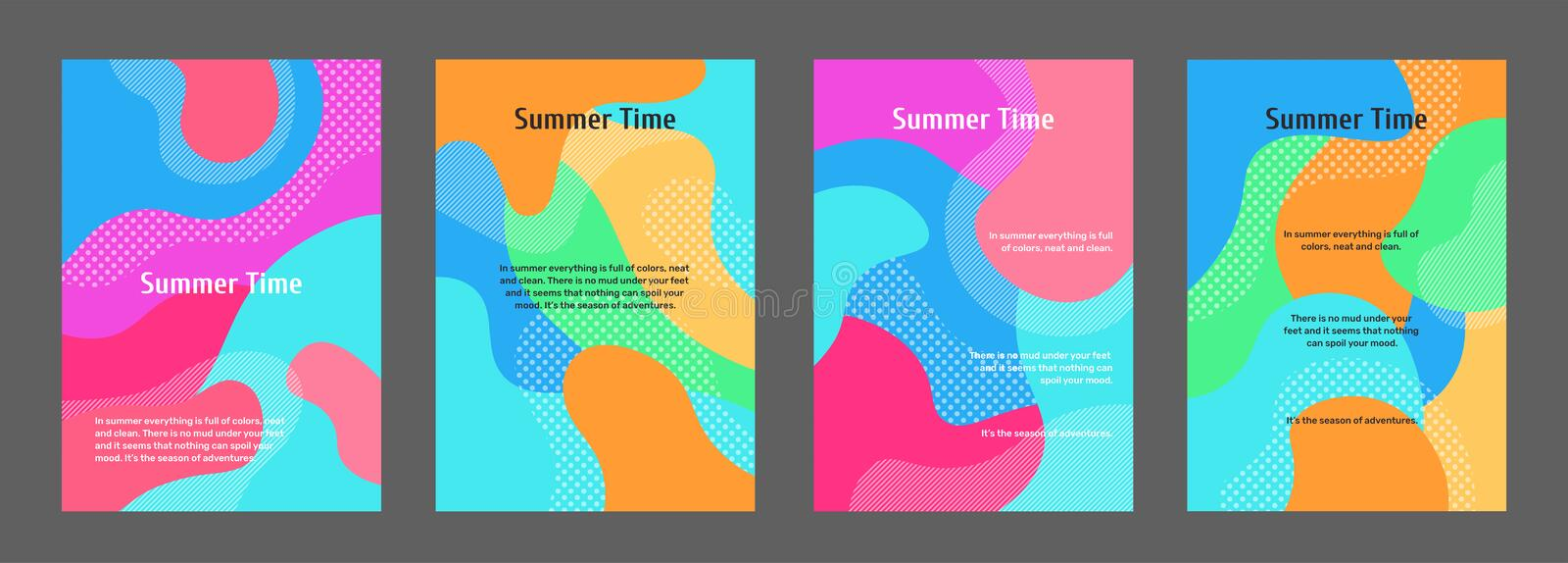 Stylish and trendy poster, flyer, banner templates vector illustration