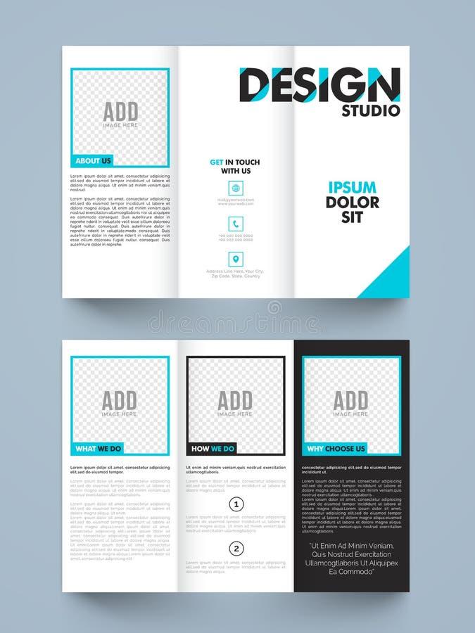 Stylish Trifold Or Brochure Design Stock Illustration