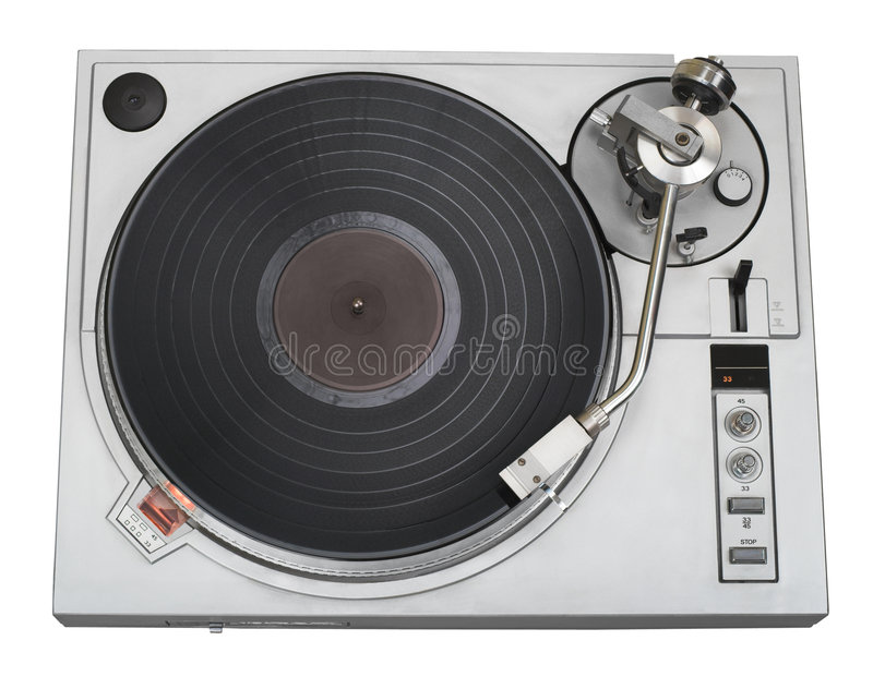 Download Stylish turntable cutout stock image. Image of music, dance - 1866797