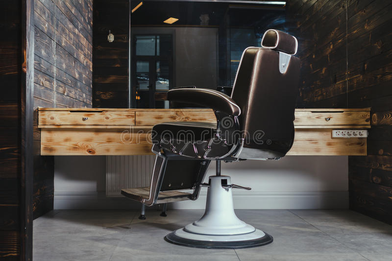 Download Stylish Vintage Barber Chair Stock Photo - Image: 83704507