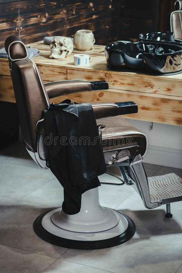 Download Stylish Vintage Barber Chair Stock Photo - Image: 83705734