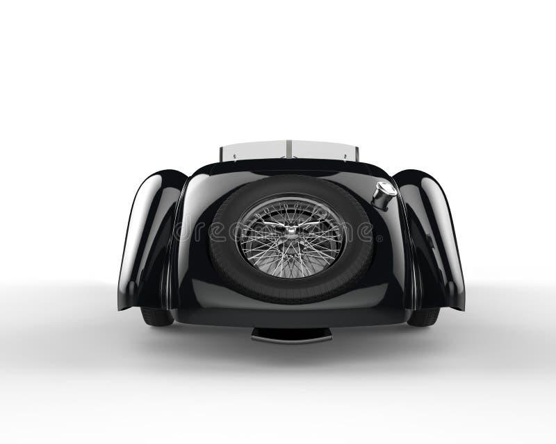 Stylish vintage car - back view stock illustration