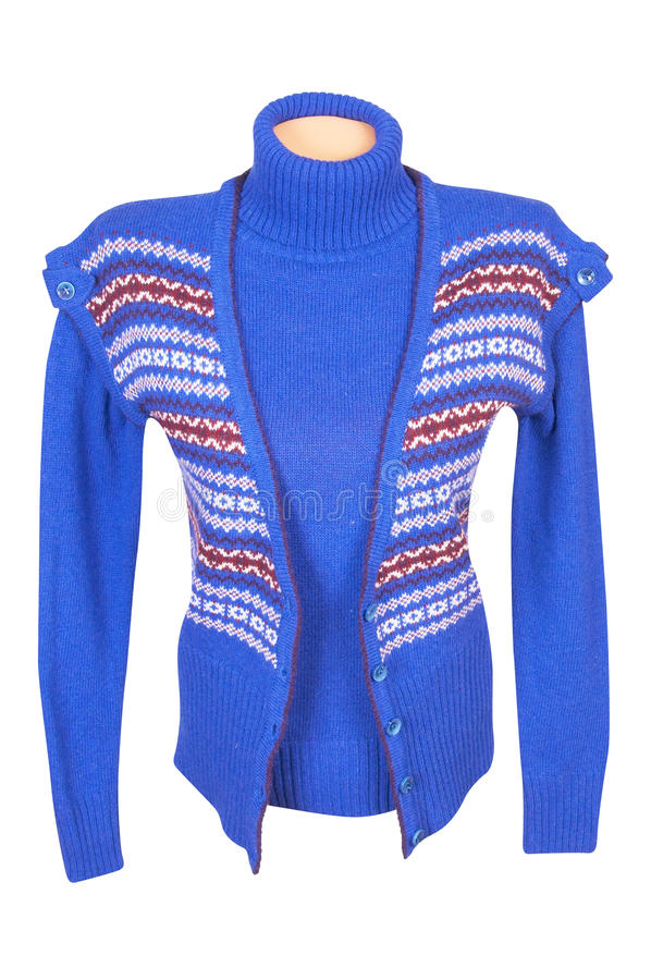 Download Stylish Waistcoat And Sweater On A White Stock Image - Image: 11915121