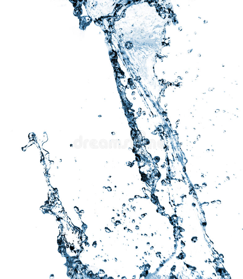 Stylish water splash royalty free stock photos