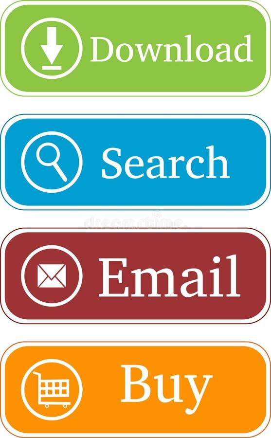 Stylish website buttons stock illustration