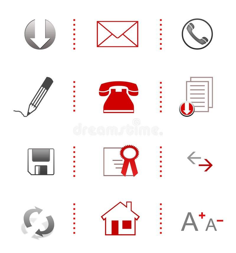 Stylish website icons stock photo