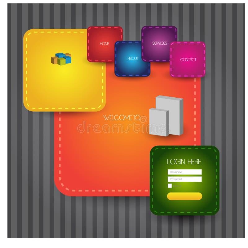 Stylish website template - portfolio layout stock illustration