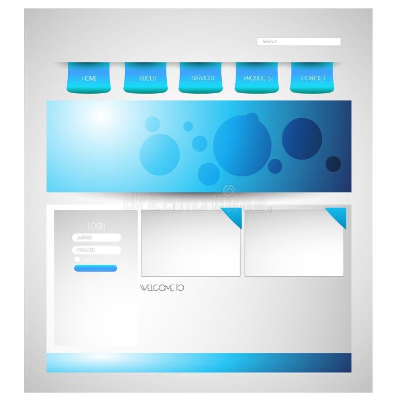 Stylish website template - portfolio layout vector illustration