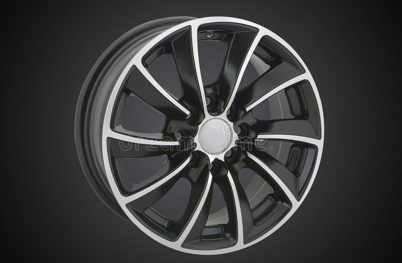 Alloy wheel of a car stock images