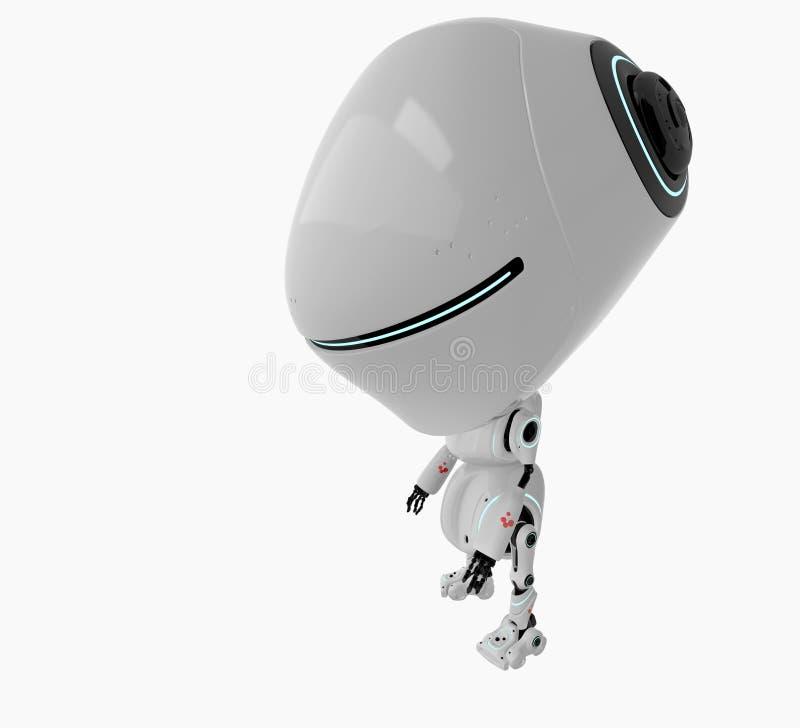 Stylish White Robot Stock Photography