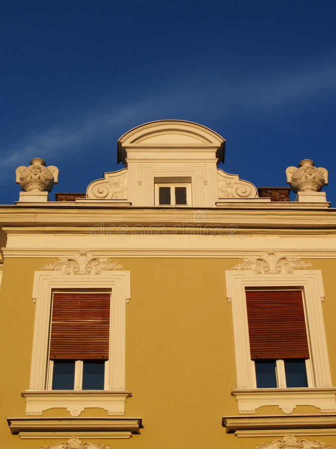 Stylish Windows In Belgrade Royalty Free Stock Images