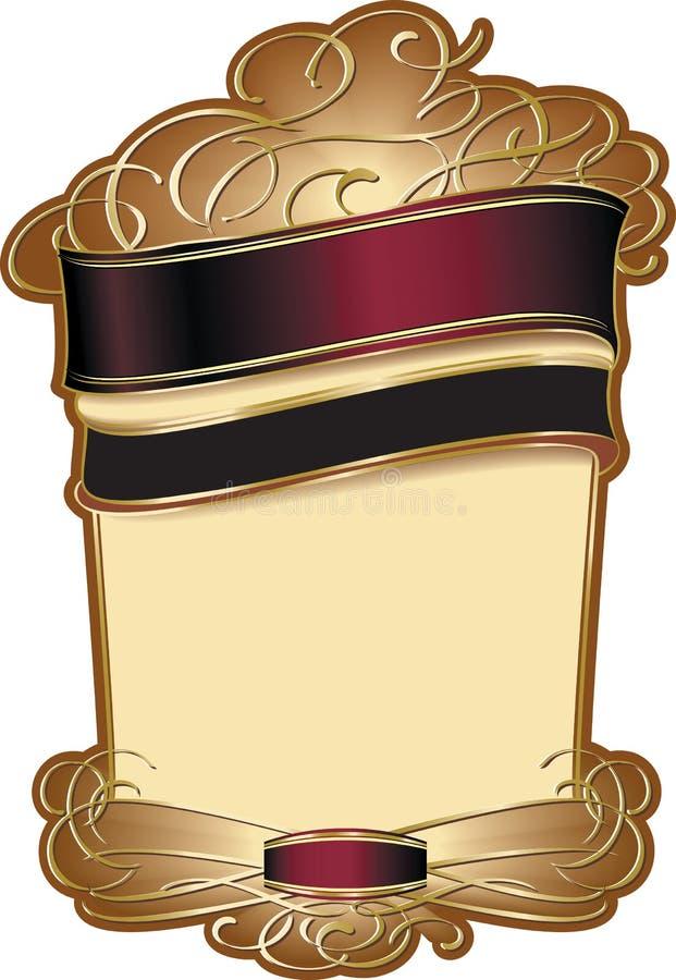 stylish wine label template stock vector illustration of menu