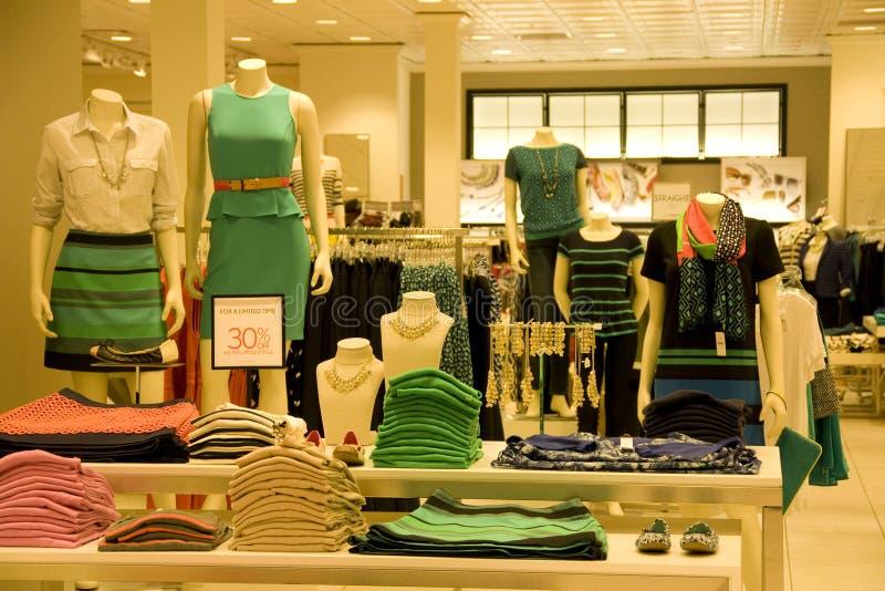 Stylish woman clothing stock image