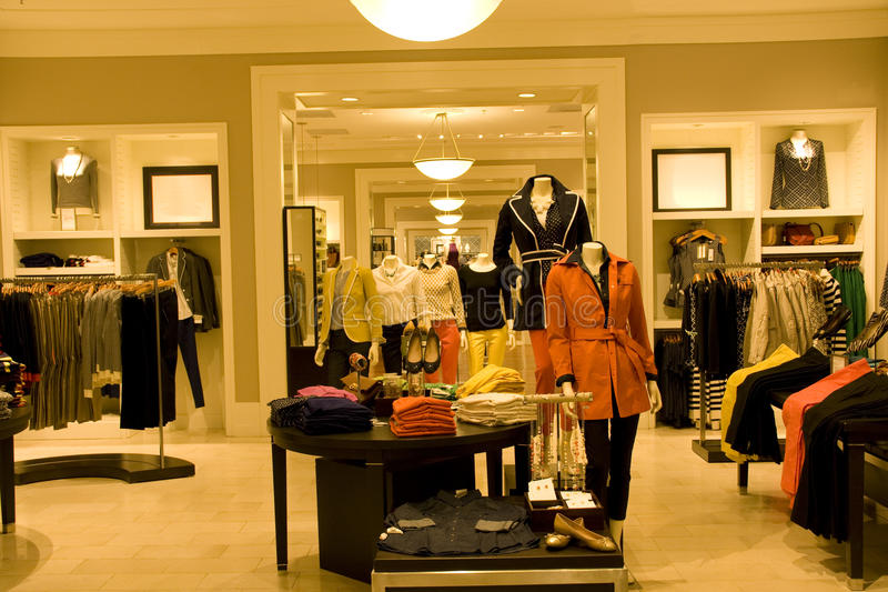 Download Stylish Woman Clothing In Store Stock Photo - Image of indoor, decorations: 28725374