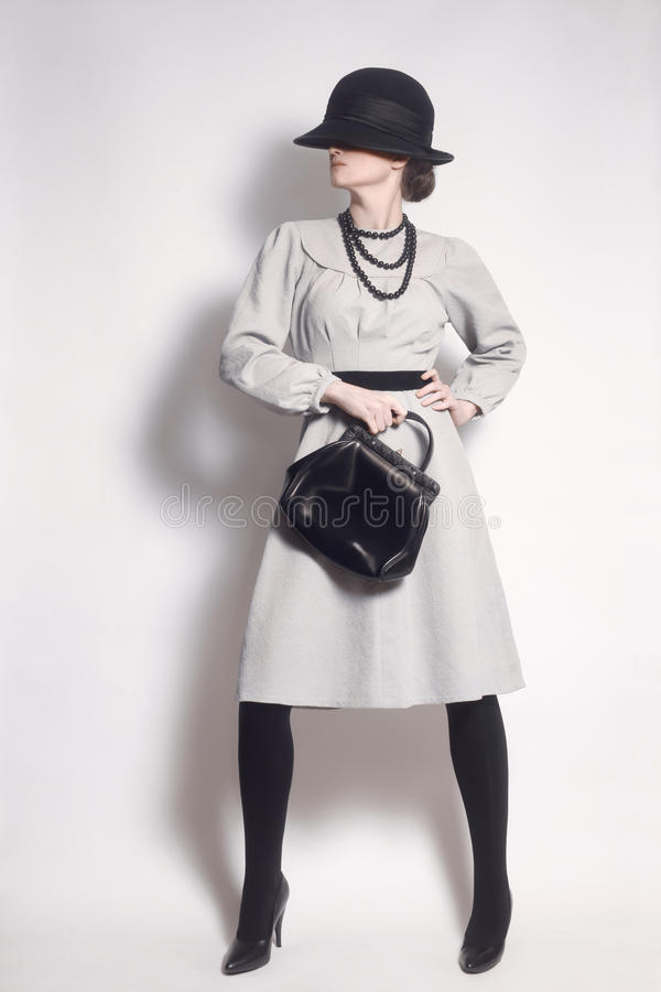 Free Stylish Woman Elegant Fashion Model Royalty Free Stock Photography - 46980757