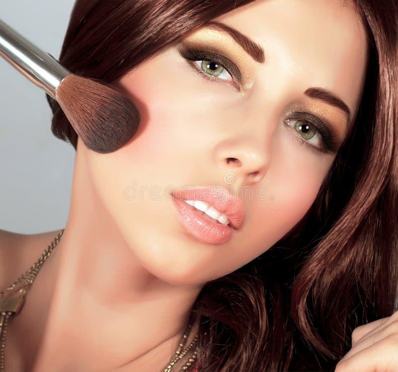 Download Stylish woman portrait stock photo. Image of lips, brunette - 27715682