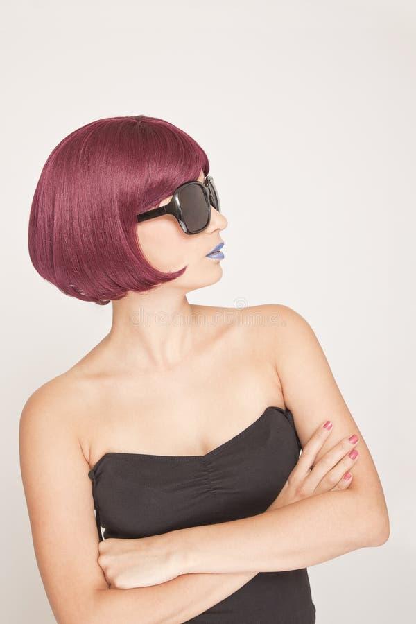 Download Stylish Woman side view stock photo. Image of lipstick - 26171344