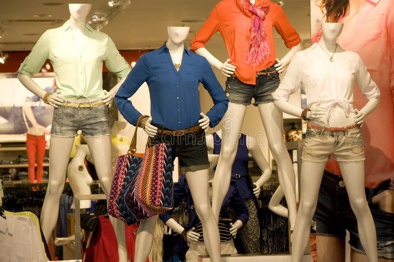 Women clothing store royalty free stock images