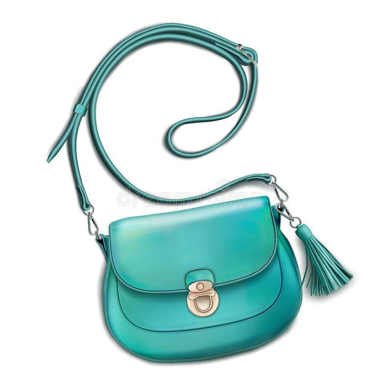 Free Stylish Women`s Mint Handbag Stock Photos - 130855213