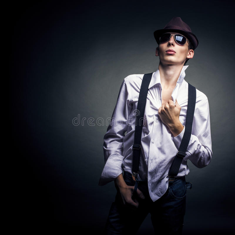 Download Stylish young man stock photo. Image of adult, male, shadow - 26670388