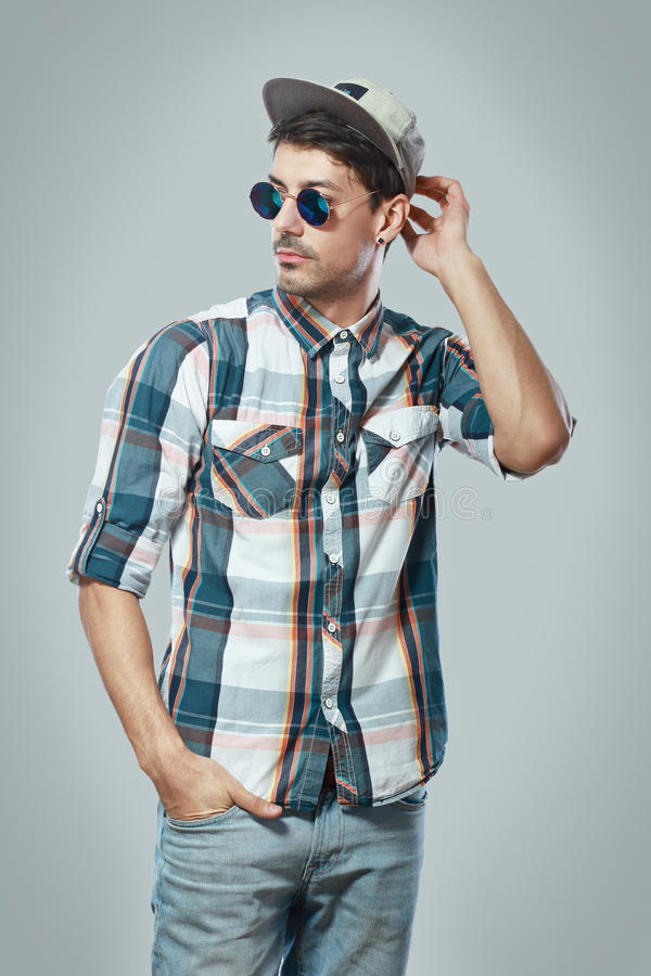 Stylish young man royalty free stock image