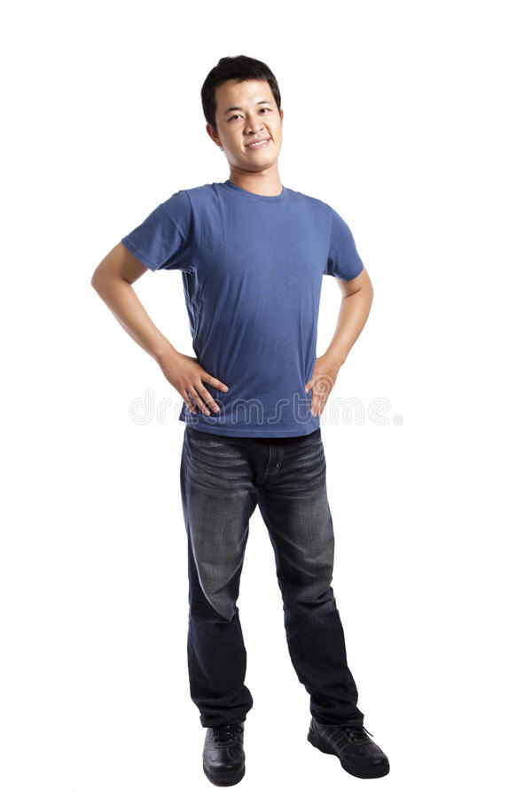 Stylish young man standing stock images