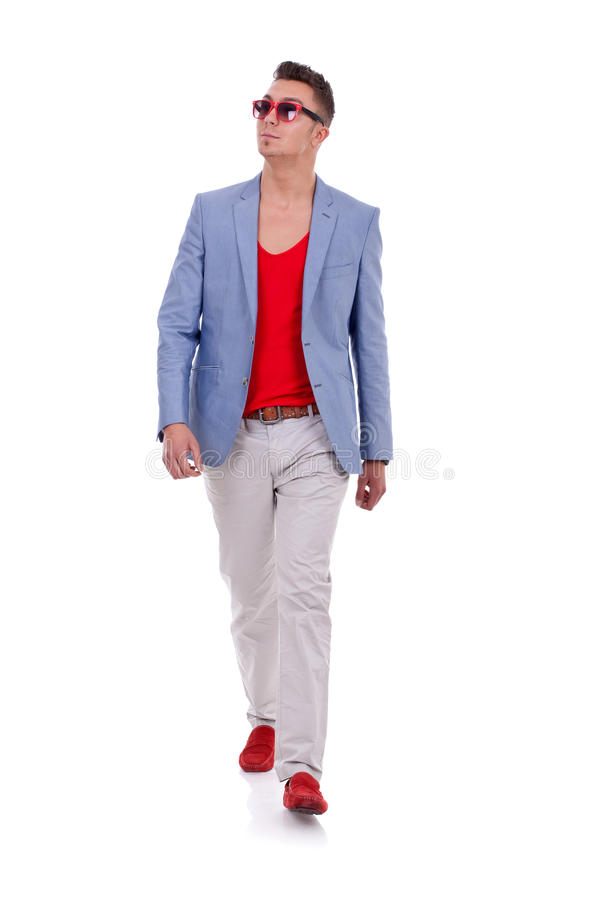Download Stylish young man walking stock photo. Image of forward - 19462744
