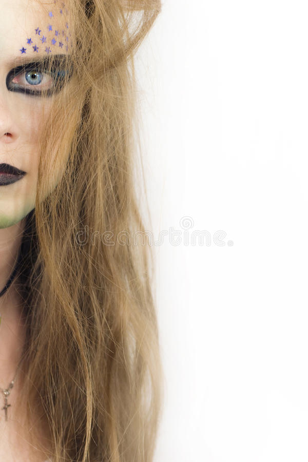 Stylish Young Model With Make-up Stock Image