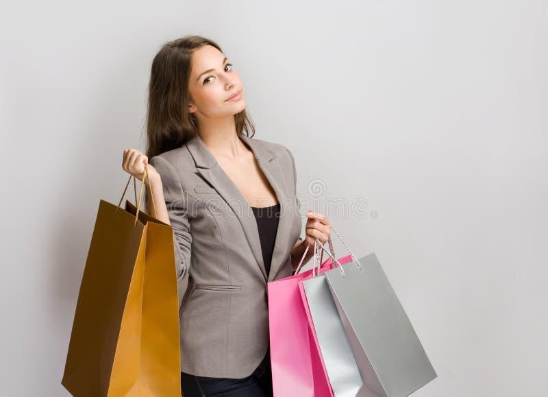 Stylish young shopper. royalty free stock image