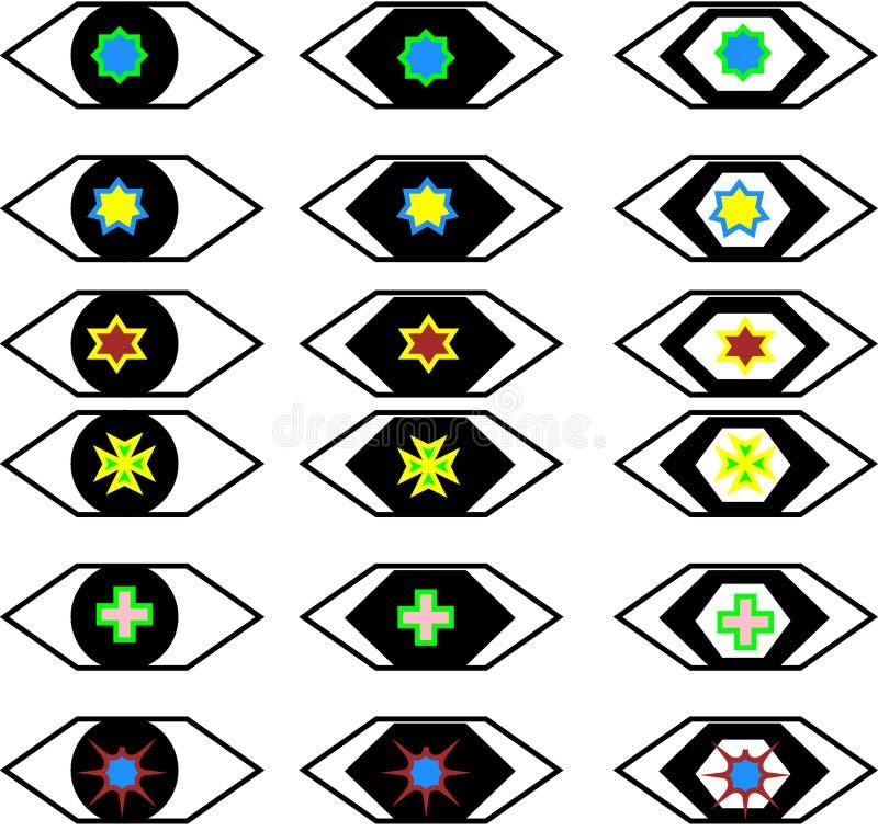 Stylist toys-eye sets stock images