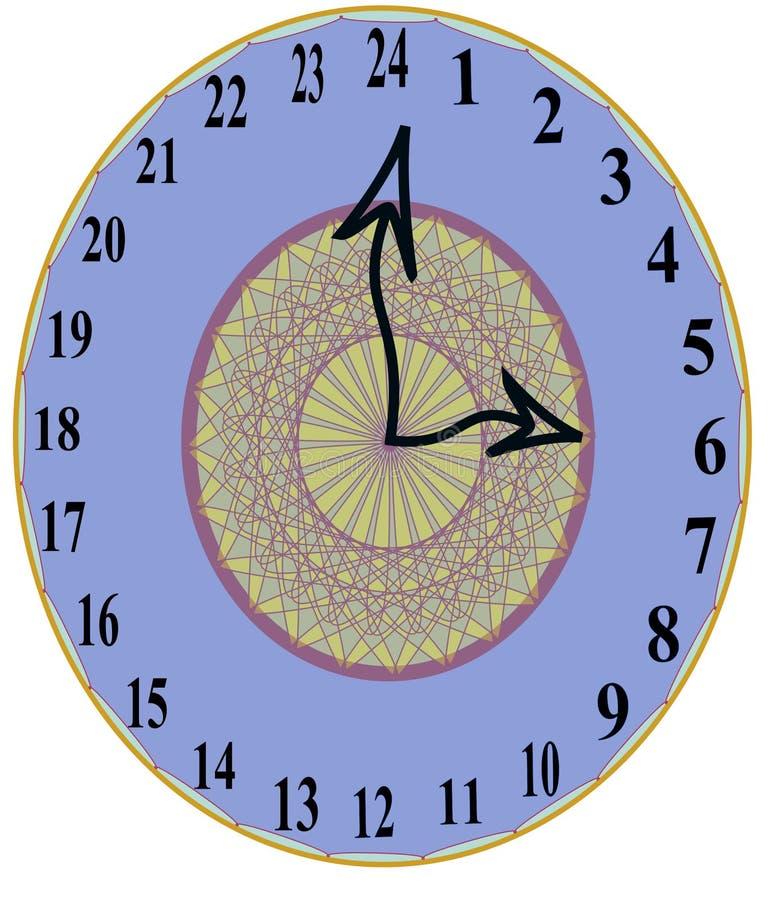 styliste unique 24 heures d 39 horloge murale photo stock illustration 90092716. Black Bedroom Furniture Sets. Home Design Ideas