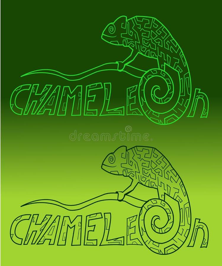 Stylizacyjni kameleonów kolory zdjęcia royalty free