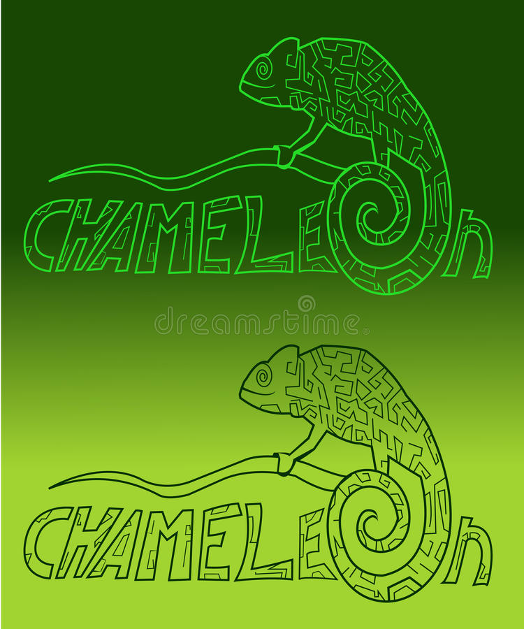 Stylization chameleon colors royalty free stock photos