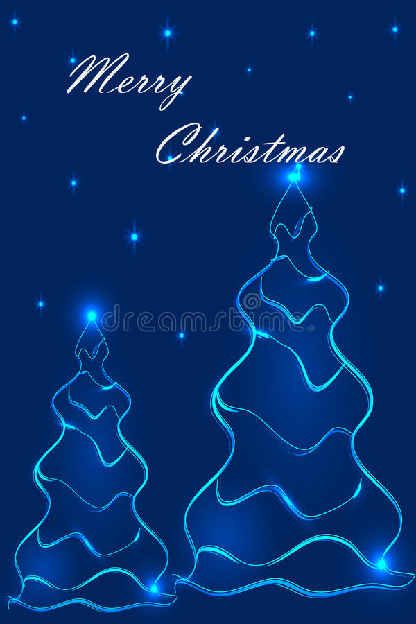 Stylization of Christmas trees 2 royalty free stock images