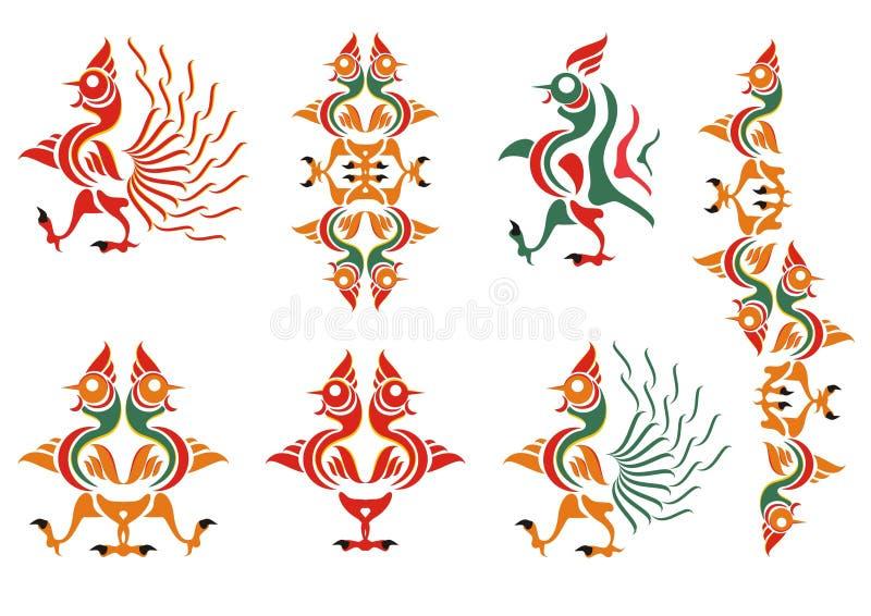 Stylization of a cock. A pattern