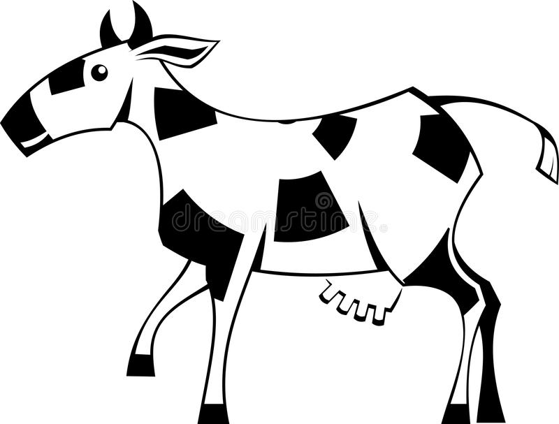 Download Stylization cow stock vector. Image of vector, animal - 13045588