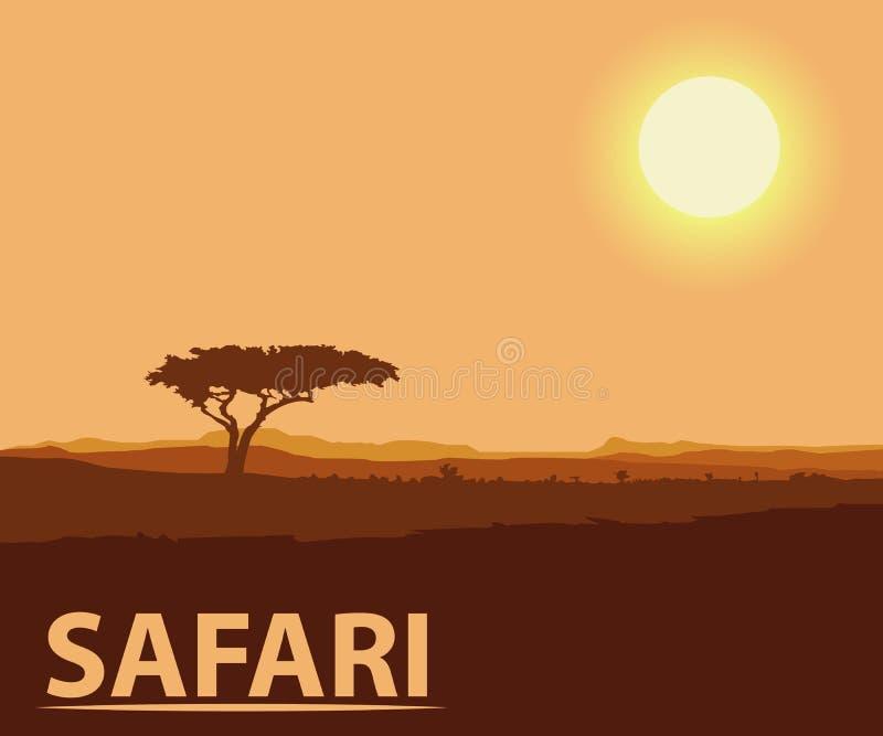 Stylization da cor do safari foto de stock