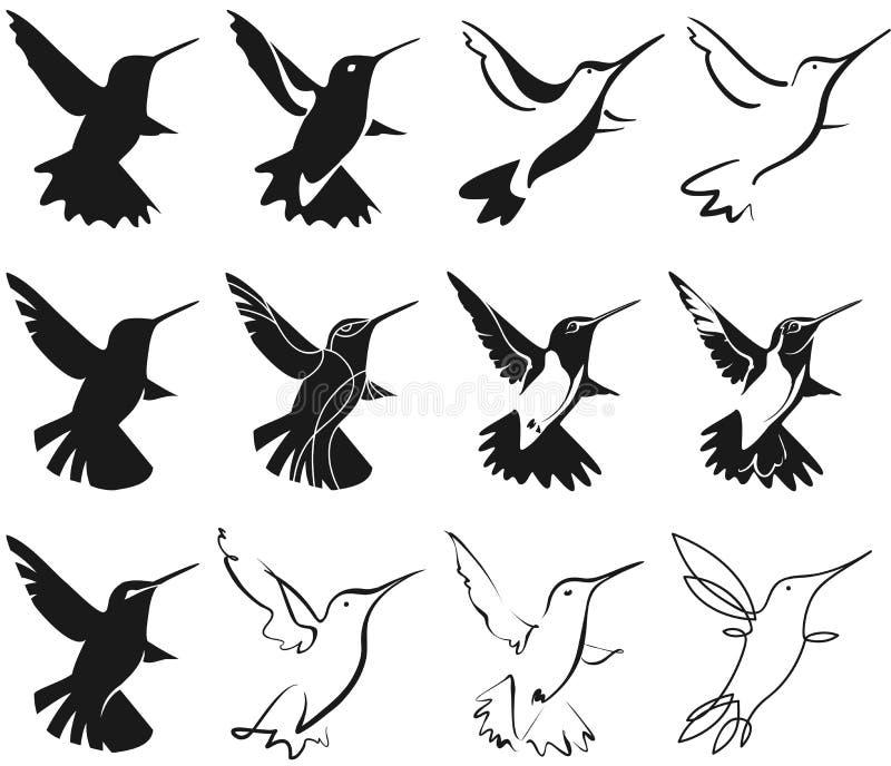 Stylization de colibri illustration libre de droits