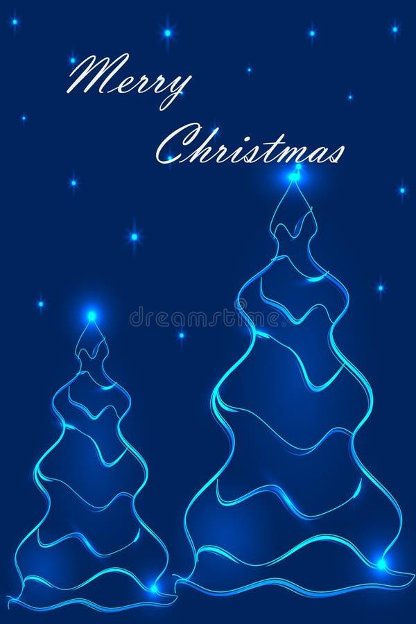 Stylization des arbres de Noël 2 images libres de droits