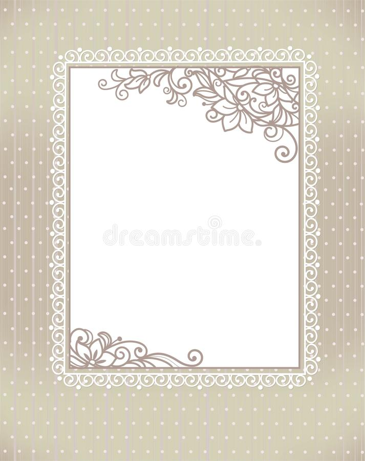Free Stylization Floral Frame Royalty Free Stock Image - 33865486