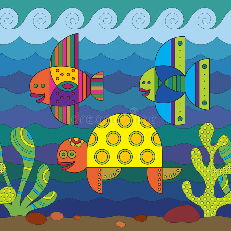 Stylize Fishes Stock Photo