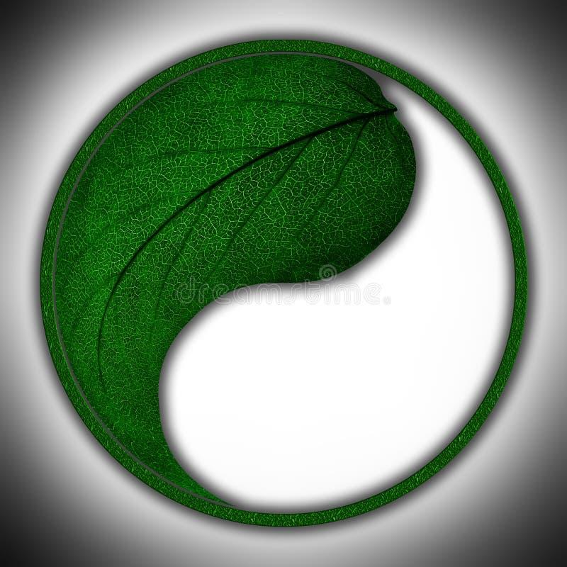 Stylize mark of leaf stock photos
