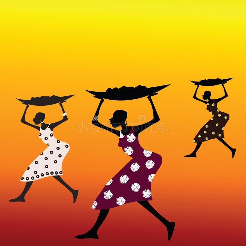 stylized afrikanskt folk royaltyfri illustrationer