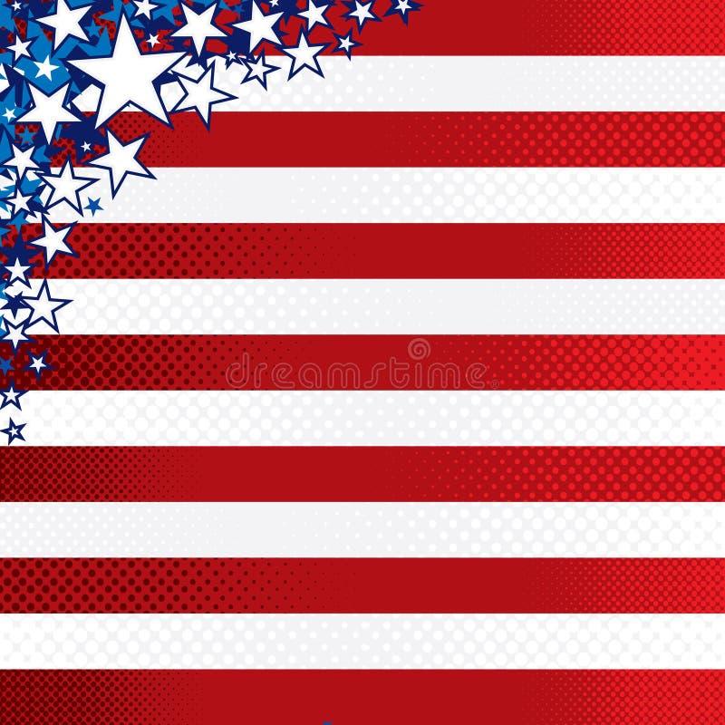 stylized amerikansk bakgrund vektor illustrationer